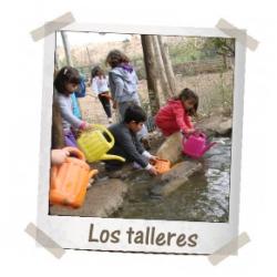 Los talleres de la Granja Escuela de Lucainena, Los Baños