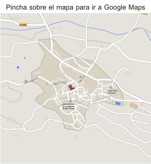 Mapa de cómo llegar a la Granja Escuela de Lucainena